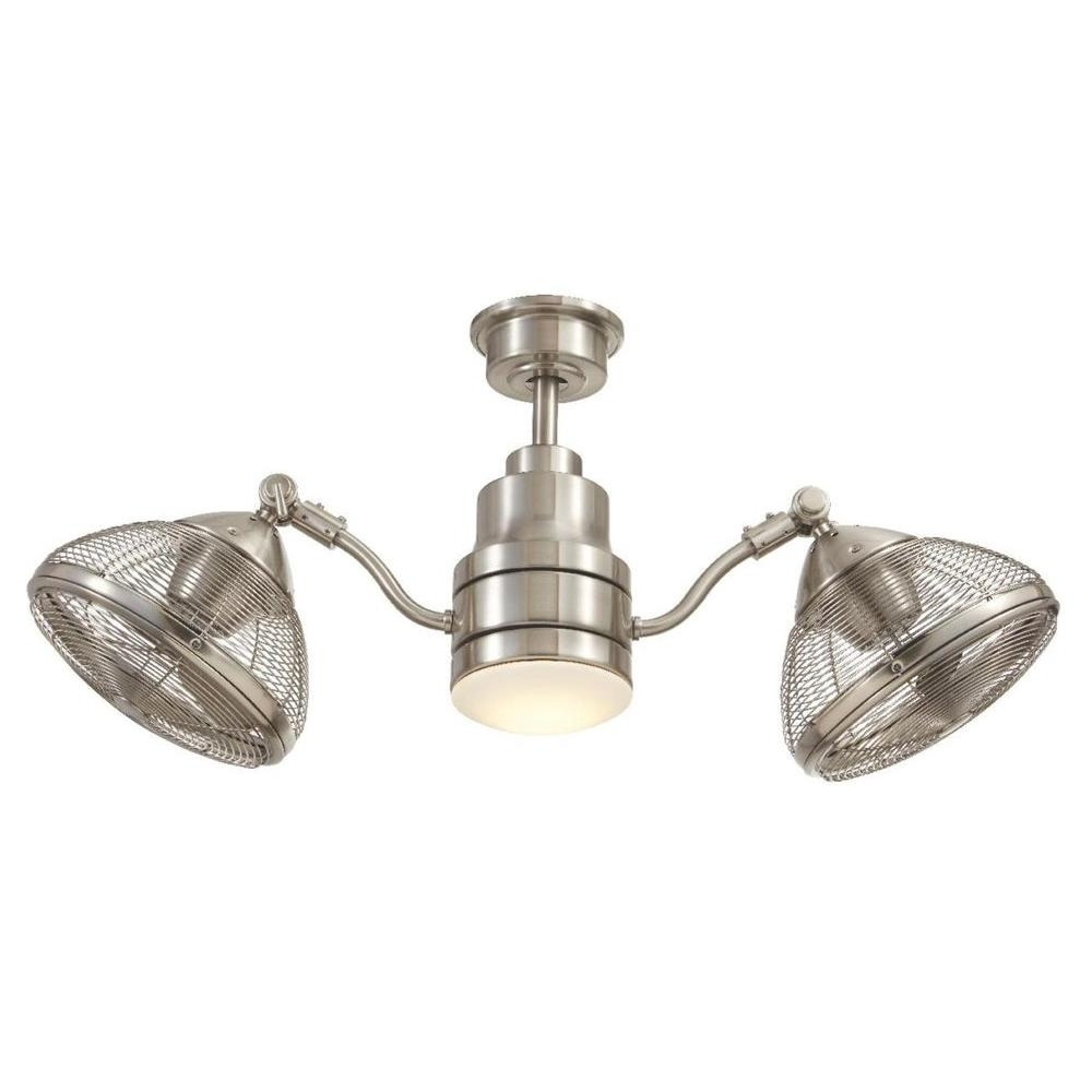 Home Decorators Collection Pendersen 42 In. Integrated Led Indoor With Regard To Latest Brushed Nickel Outdoor Ceiling Fans (Gallery 17 of 20)