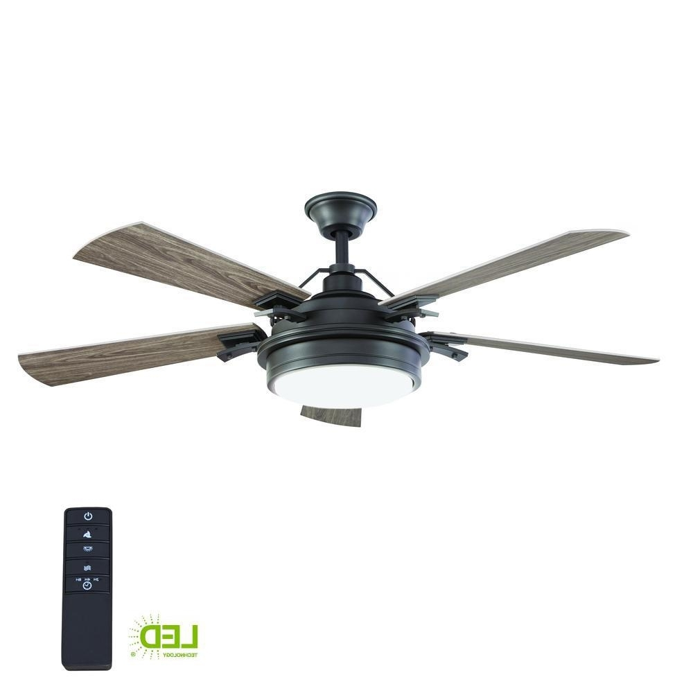 Home Decorators Collection Westerleigh 54 In. Integrated Led Indoor Inside Widely Used Outdoor Ceiling Fans With Lights And Remote Control (Gallery 4 of 20)