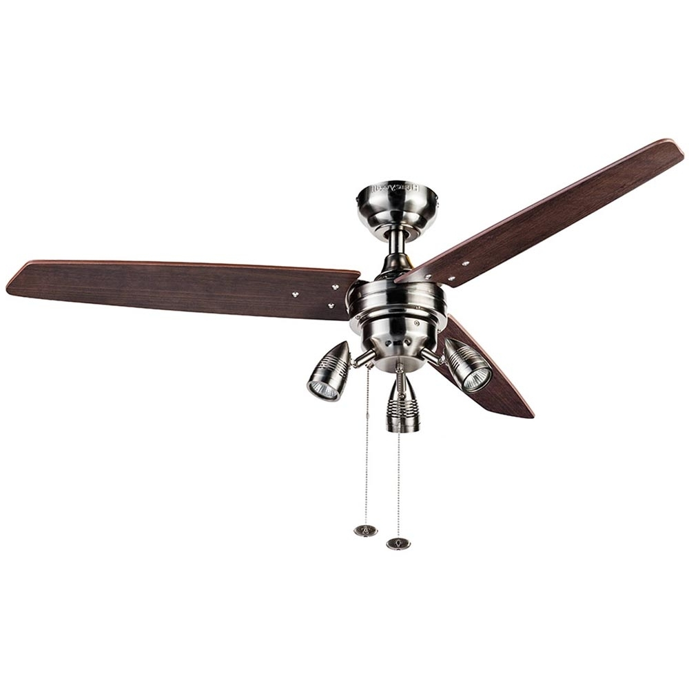 Honeywell Wicker Park Ceiling Fan, Satin Nickel, 48 Inch – 10268 With Best And Newest 48 Inch Outdoor Ceiling Fans With Light (View 11 of 20)