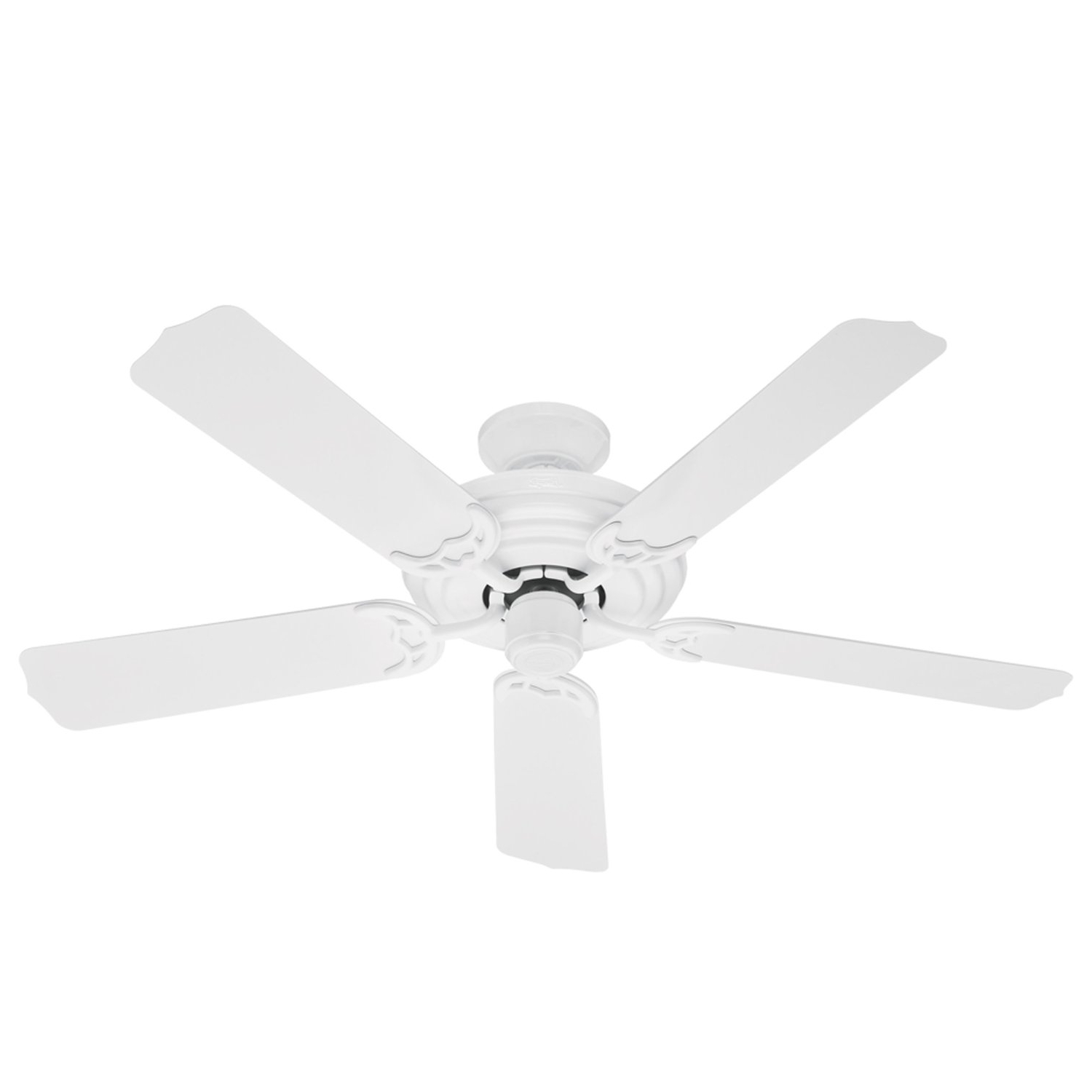 Hunter 23566 Sea Air 52 Inch 5 White Plastic Blades Ceiling Fan Intended For 2019 Outdoor Ceiling Fans With Plastic Blades (Gallery 4 of 20)