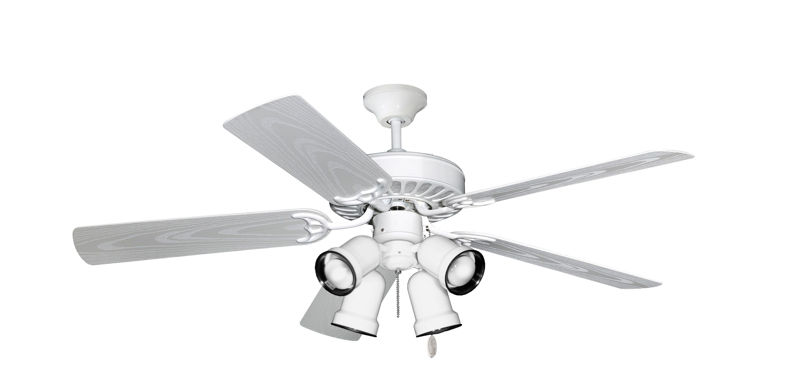 Hunter 52 5 Minute White Outdoor Ceiling Fan (View 18 of 20)