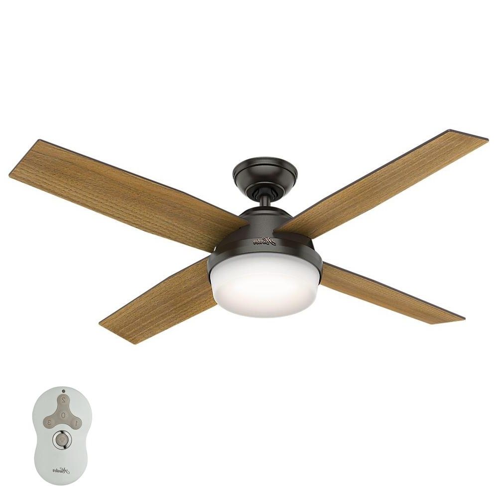 Hunter – Ceiling Fans – Lighting – The Home Depot With Most Up To Date Outdoor Ceiling Fan With Light Under $ (View 2 of 20)