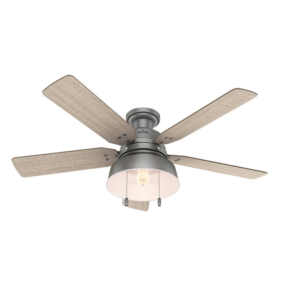"""Hunter Fan 52"""" Mill Valley 5 Blade Ceiling Fan & Reviews (View 17 of 20)"""