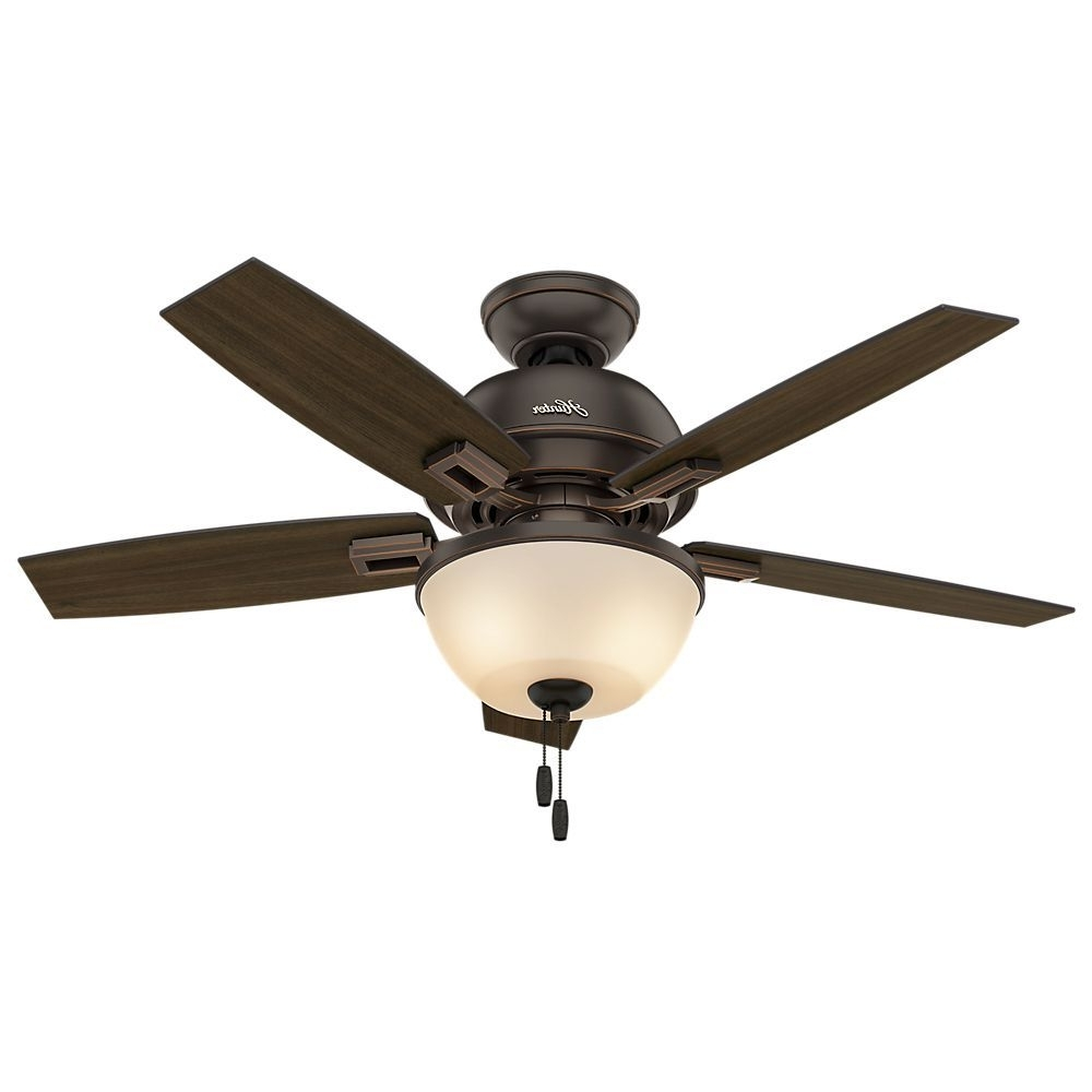 Hunter Fan Donegan Collection 44 Inch Ceiling Fan With Light Kit In Well Liked 44 Inch Outdoor Ceiling Fans With Lights (View 14 of 20)
