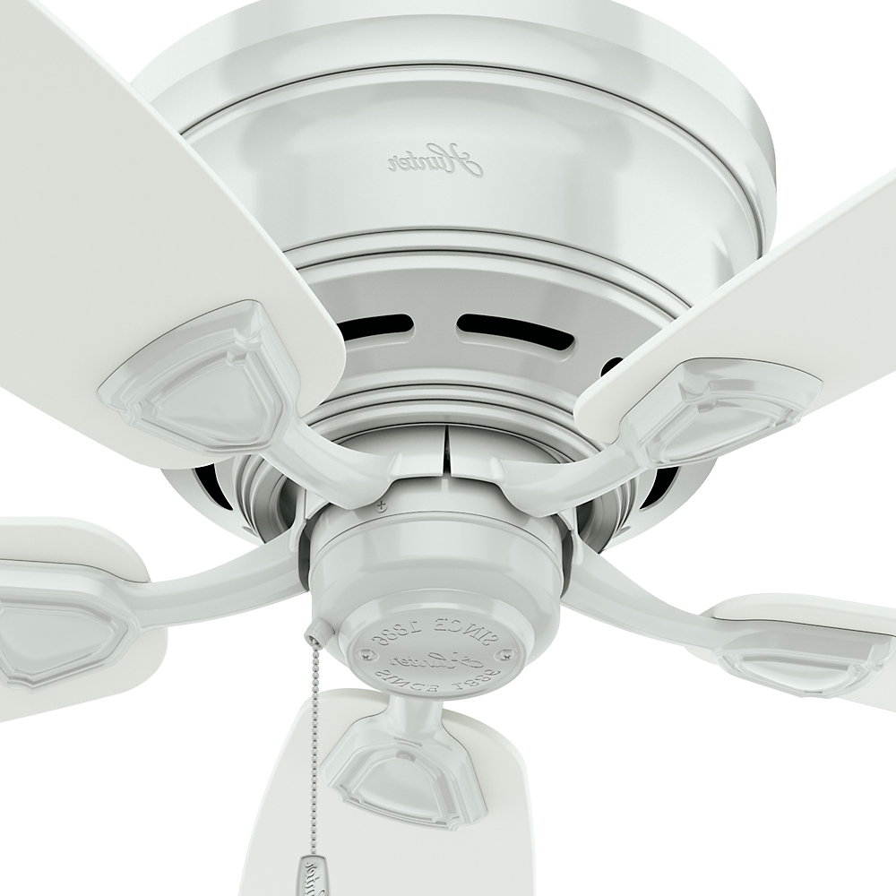 "Hunter Fan Sea Wind 48"" White Outdoor Ceiling Fan, 53119 – Walmart Regarding Fashionable Portable Outdoor Ceiling Fans (Gallery 19 of 20)"