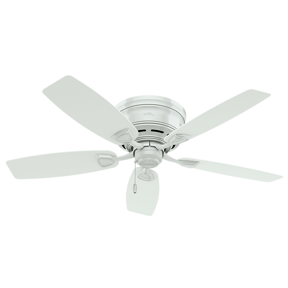 "Hunter Fan Sea Wind 48"" White Outdoor Ceiling Fan, 53119 – Walmart Within Most Up To Date Outdoor Ceiling Fans For High Wind Areas (View 9 of 20)"