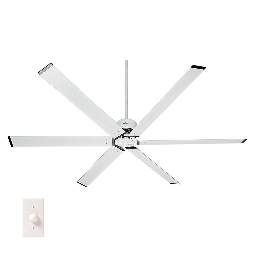 Hunter Hfc 96 96 In. Indoor/outdoor Fresh White Ceiling Fan With With Most Up To Date Outdoor Ceiling Fans With Aluminum Blades (Gallery 13 of 20)