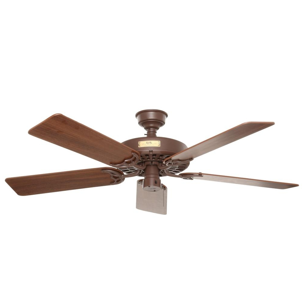 Hunter Original 52 In. Indoor/outdoor Chestnut Brown Ceiling Fan With Regard To Latest Heavy Duty Outdoor Ceiling Fans (Gallery 2 of 20)