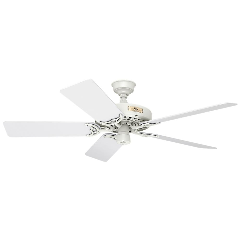 Hunter Original 52 In. Indoor/outdoor White Ceiling Fan 23845 – The Pertaining To Favorite Hunter Outdoor Ceiling Fans With White Lights (Gallery 16 of 20)