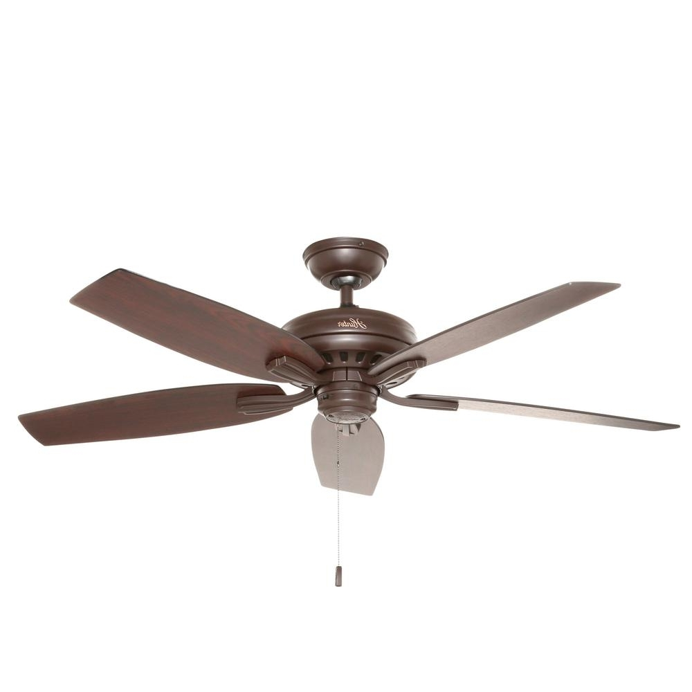 Hunter – Outdoor – Ceiling Fans – Lighting – The Home Depot Pertaining To Preferred Outdoor Ceiling Fans Under $150 (Gallery 6 of 20)