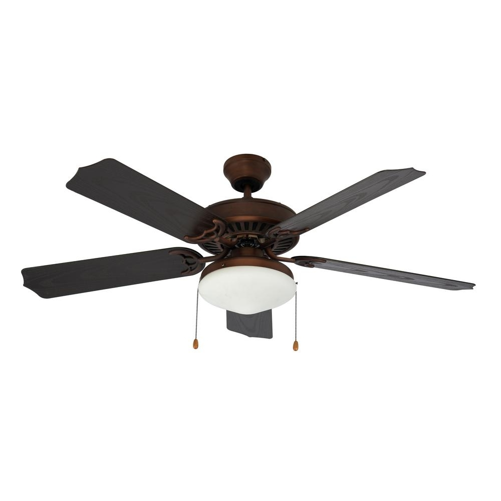 Hunter San Marco 52 In. Indoor/outdoor Noble Bronze Ceiling Fan With Pertaining To Preferred Hurricane Outdoor Ceiling Fans (Gallery 3 of 20)