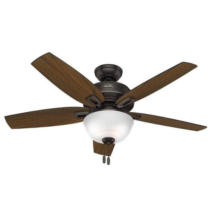 Hunter Wetherby Cove 48 In Premier Bronze Indoor/outdoor Downrod Or With Recent Outdoor Ceiling Fans With Long Downrod (Gallery 3 of 20)