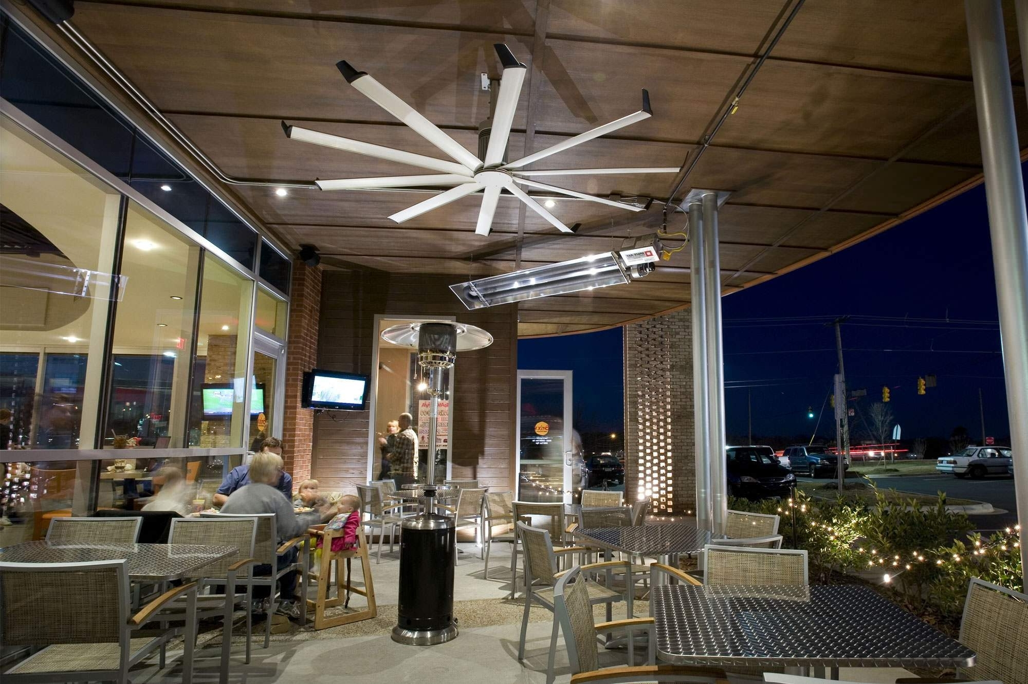 Hvls Ceiling Fans For Industries And Applications Of All Types From Inside Most Popular Commercial Outdoor Ceiling Fans (Gallery 20 of 20)
