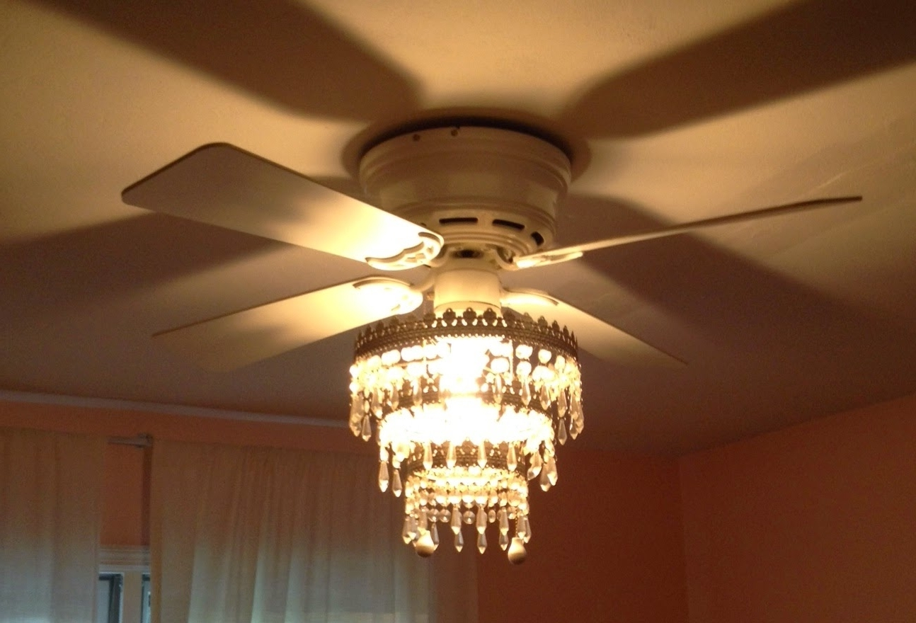 Ikea Outdoor Ceiling Fans For Well Known Mess Of The Day: Ikea Hack Ceiling Fan Chandelier (Gallery 8 of 20)