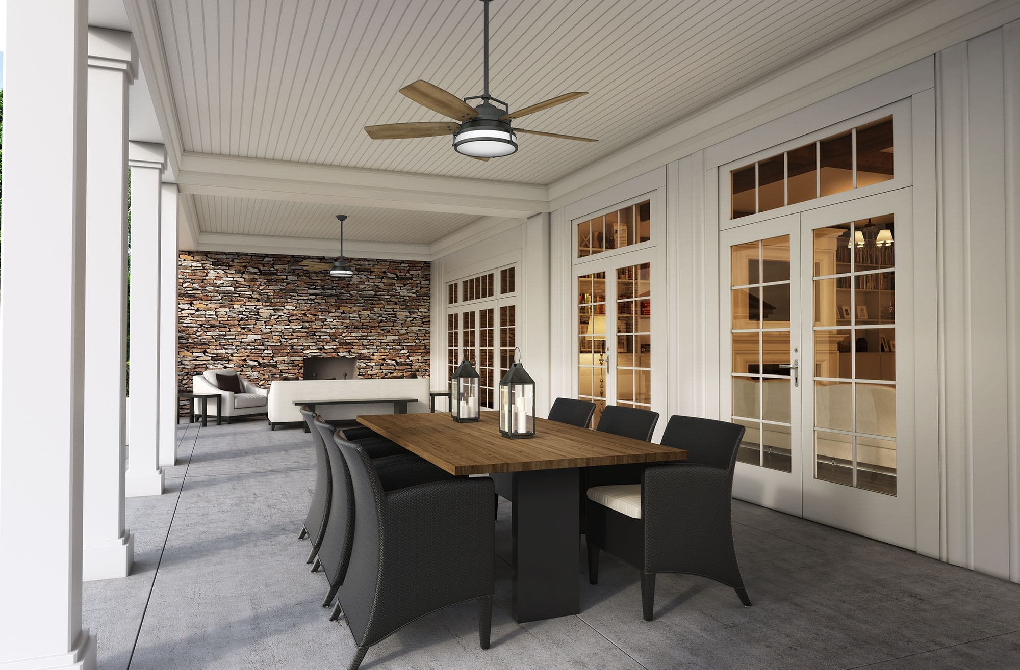 Joanna Gaines Outdoor Ceiling Fans In Preferred Caneel Bay Featured In Hgtv's Fixer Upper – Casablanca Fan Company Blog (View 7 of 20)