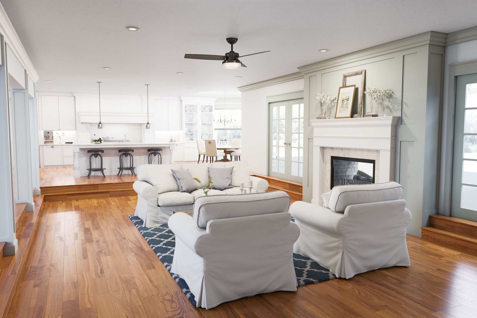 Joanna Gaines Outdoor Ceiling Fans Throughout Current How To Achieve Farmhouse Style In Your Home – Hunter Fan Blog (View 10 of 20)