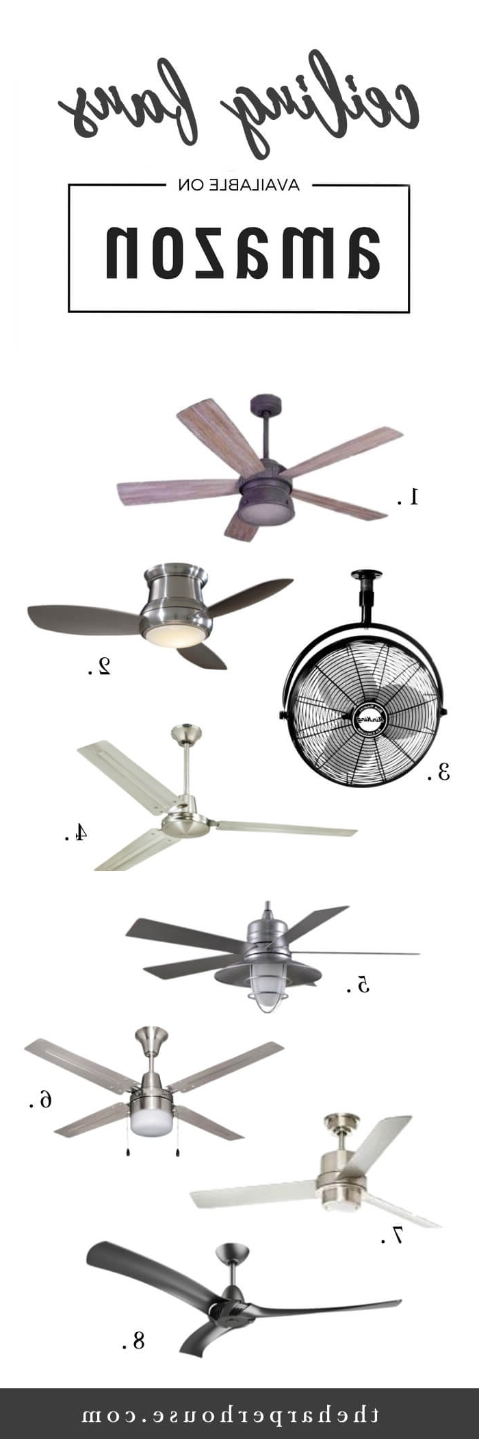 Joanna Gaines Outdoor Ceiling Fans With Regard To Popular Farmhouse Ceiling Fans: Find Them On Amazon! (View 11 of 20)