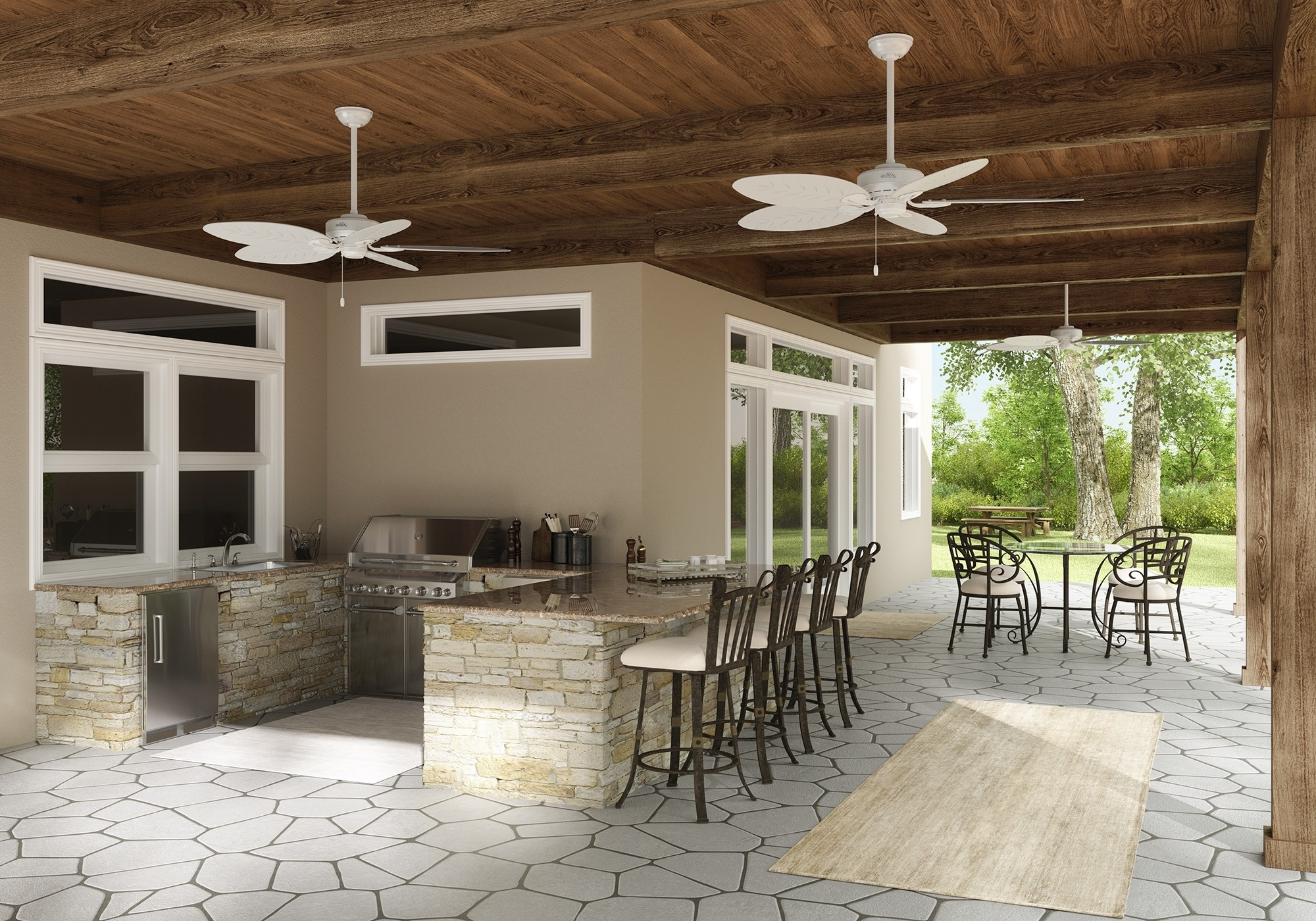Joanna Gaines Outdoor Ceiling Fans Within Latest How To Choose An Outdoor Ceiling Fan – Hunter Fan Blog (View 13 of 20)