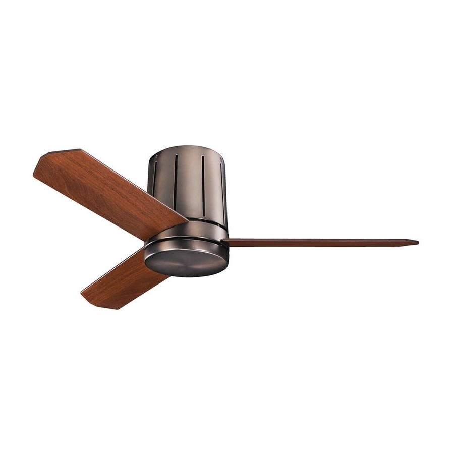 Kichler Lighting Innes Ii 42 In Oil Brushed Bronze Flush Mount Throughout 2018 42 Outdoor Ceiling Fans With Light Kit (Gallery 16 of 20)