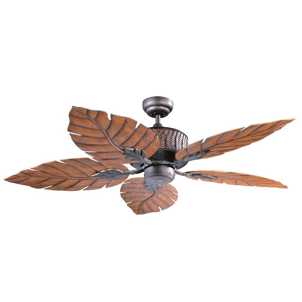 Kichler Outdoor Ceiling Fans With Lights Inside Well Known Designers Choice Collection Fern Leaf 52 In. Indoor/outdoor Oil (Gallery 15 of 20)