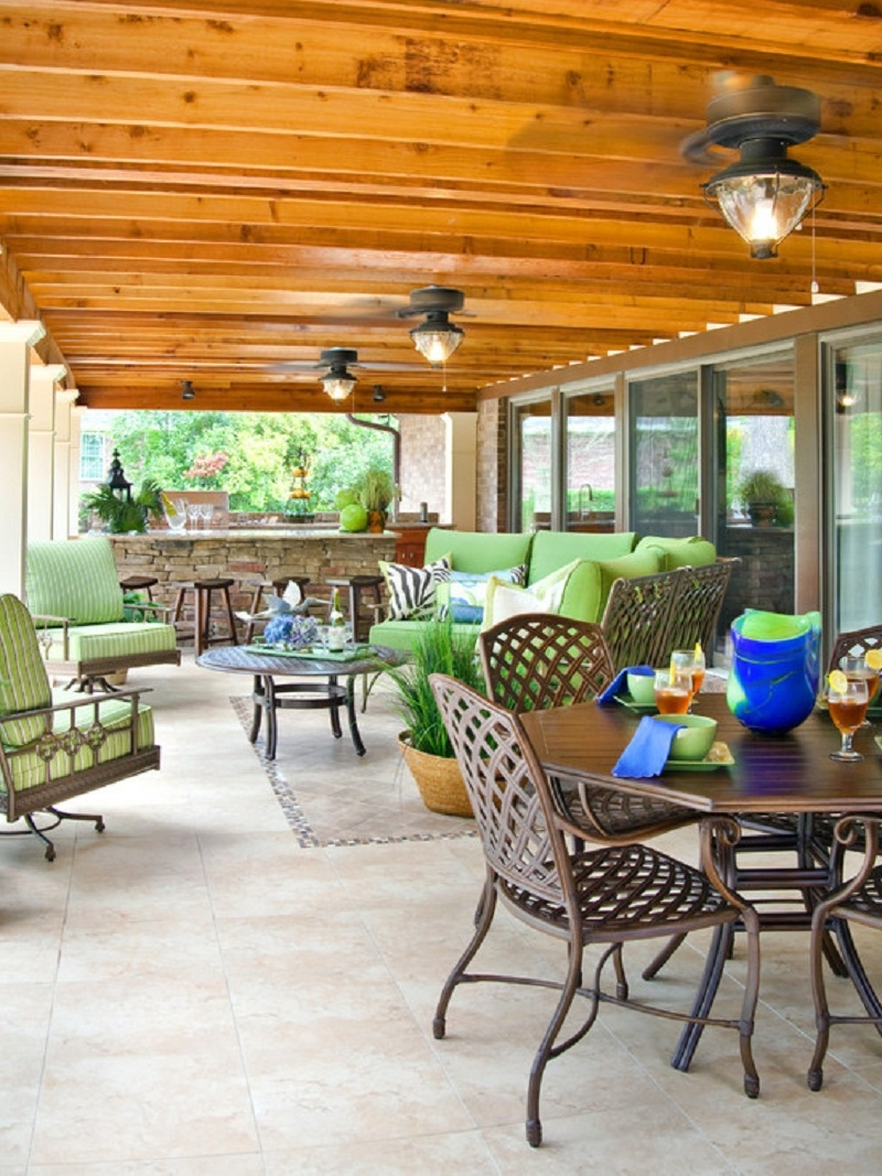 Kitchen Ceiling Lighting Deck House Ideas – Pizzarusticachicago In Latest Outdoor Ceiling Fans For Decks (View 7 of 20)