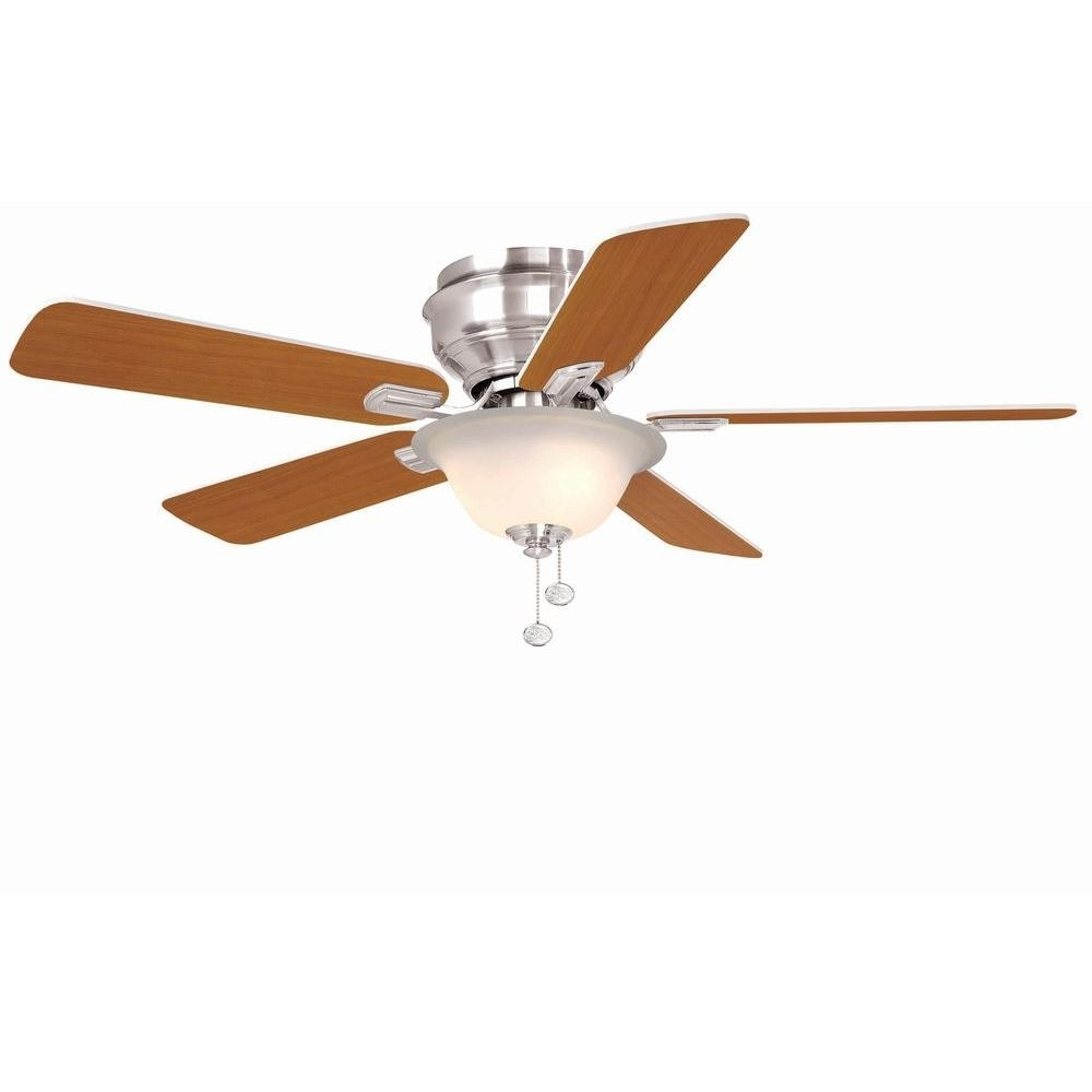 Kmart Outdoor Ceiling Fans Throughout Well Known Hampton Bay Hawkins 44 In. Tarnished Bronze Ceiling Fan Yg204 Tb D (Gallery 10 of 20)