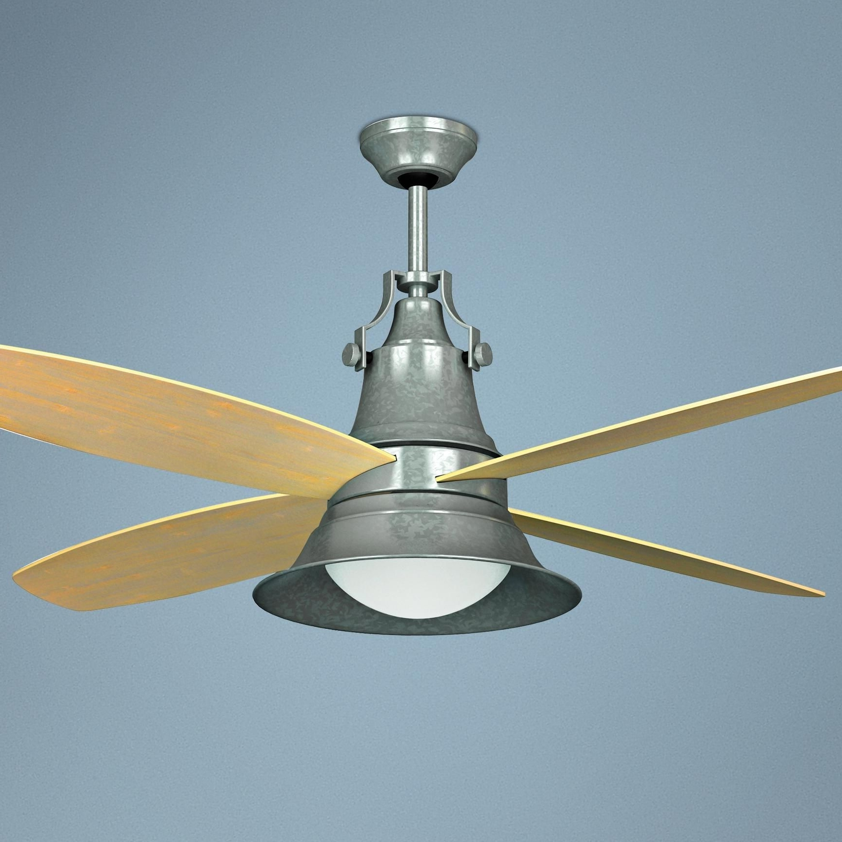 Lampsplus Within Fashionable Galvanized Outdoor Ceiling Fans With Light (View 9 of 20)
