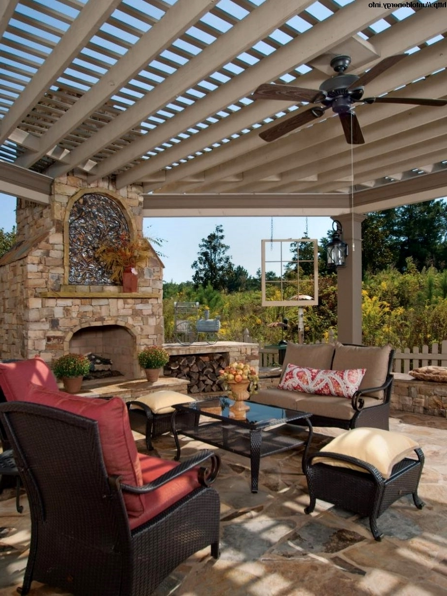 Landscape Design Cad Blocks Free Patio Ceiling Fan – Outdoor Lighting Intended For Most Popular Outdoor Ceiling Fans Under Pergola (View 7 of 20)