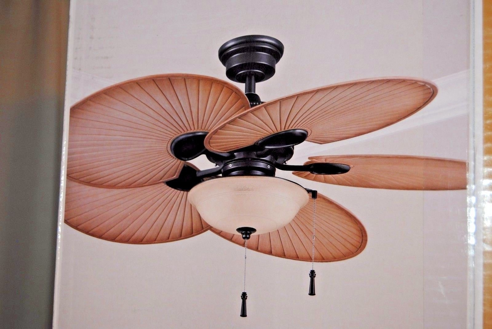Latest 48 Outdoor Ceiling Fans With Light Kit Pertaining To Hampton Bay Havana 48 In. Indoor/outdoor Natural Iron Ceiling Fan (Gallery 20 of 20)