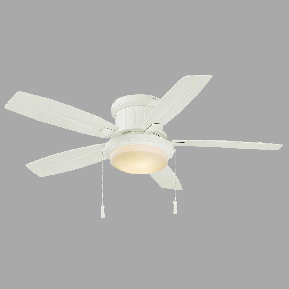 Latest Best Choice Of Hampton Bay Roanoke 48 In Indoor Outdoor White Pertaining To 48 Inch Outdoor Ceiling Fans With Light (View 14 of 20)