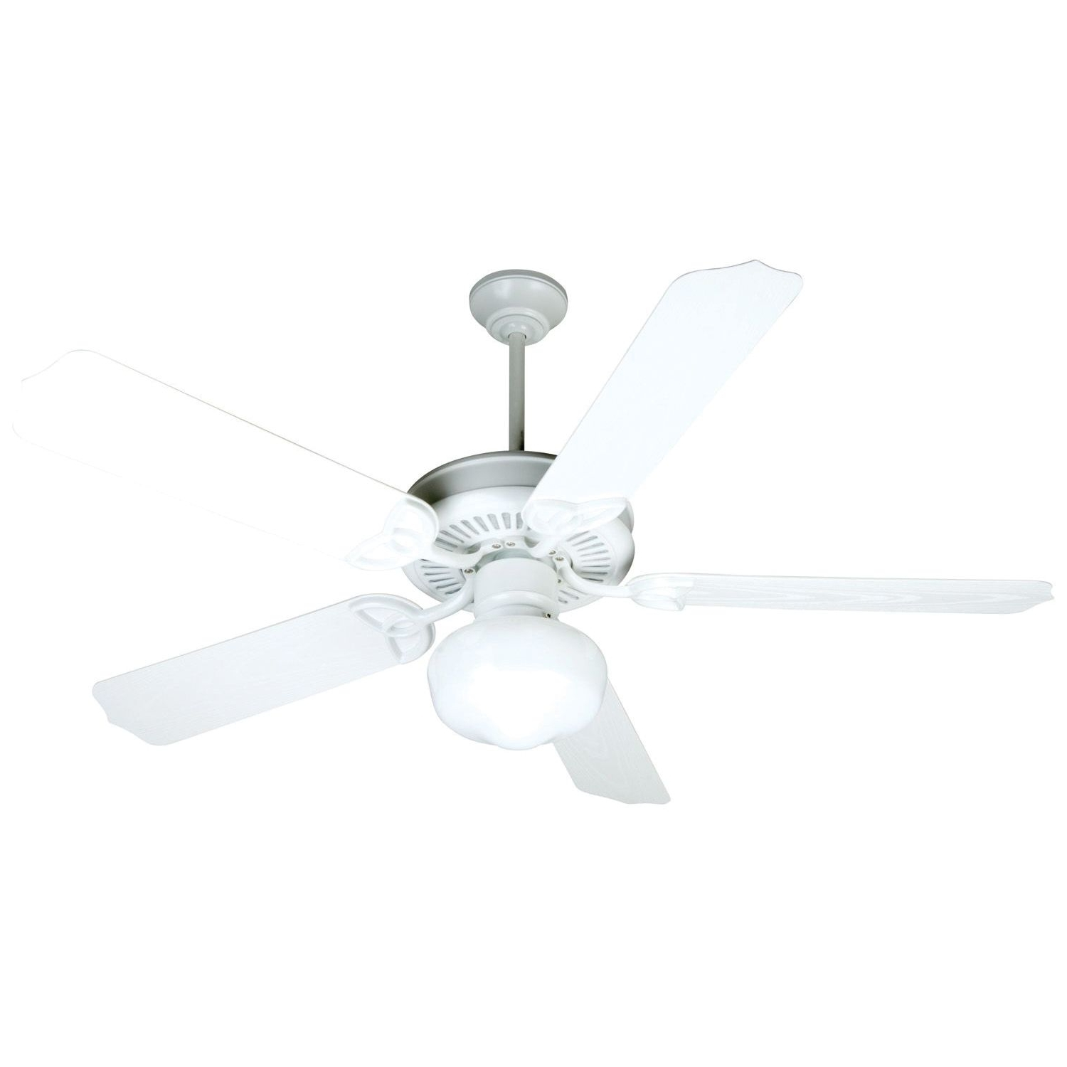 Latest Craftmade Opxl52W Heavy Duty Traditional Ceiling Fan 52 Inch White 5 Within Heavy Duty Outdoor Ceiling Fans (Gallery 15 of 20)