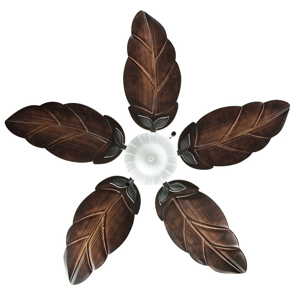 Leaf Blades Outdoor Ceiling Fans For Most Recently Released Tips & Ideas: Perfect Tropical Theme For Living Room With Ceiling (View 10 of 20)