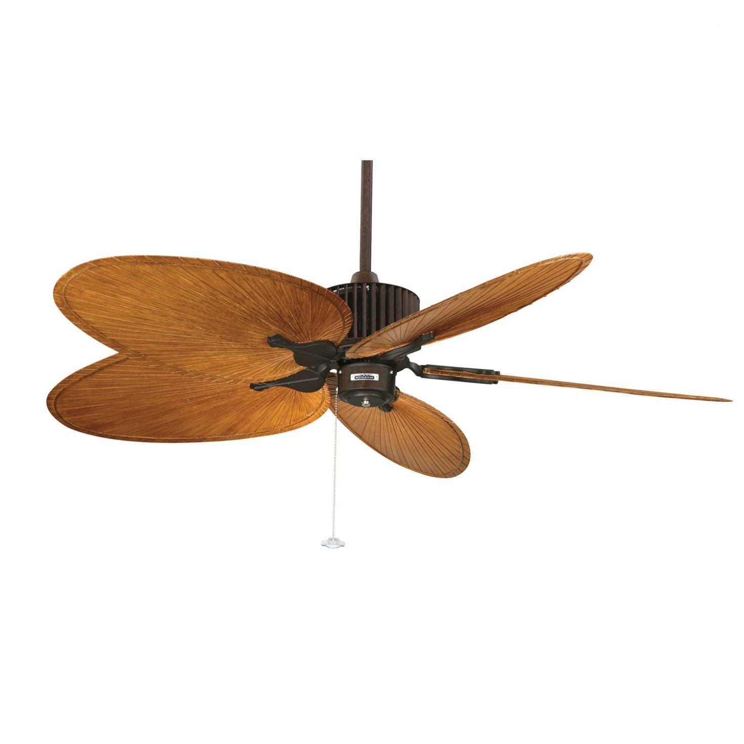 Leaf Blades Outdoor Ceiling Fans Inside 2018 Palm Leaf Ceiling Fan — Foothillfolk Designs (View 14 of 20)