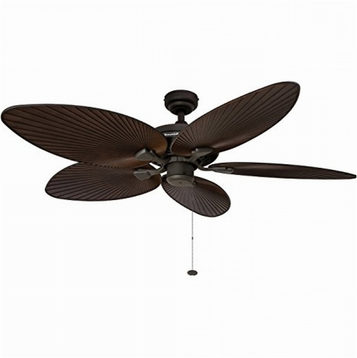 "Leaf Blades Outdoor Ceiling Fans Pertaining To Well Known 52"" Tropical Ceiling Fan Five Palm Leaf Blades Indoor/outdoor Damp (View 17 of 20)"