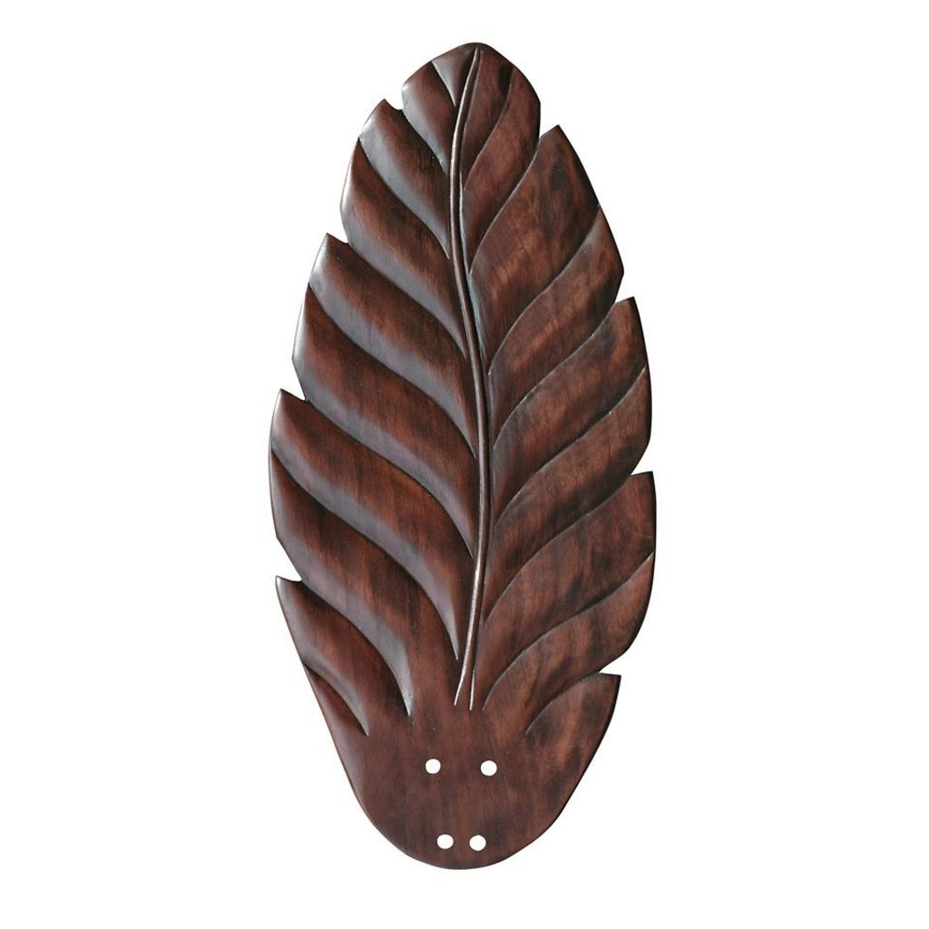 Leaf Blades Outdoor Ceiling Fans Pertaining To Widely Used Indoor/outdoor Carved Leaf Cherry Ceiling Fan Blade (View 13 of 20)