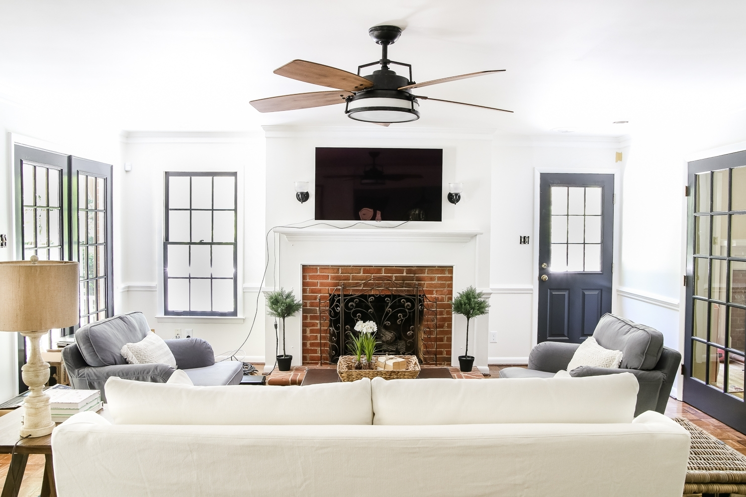 Living Room Update: Ceiling Fan Swap – Bless'er House Within Current Outdoor Ceiling Fans Under $ (View 6 of 20)