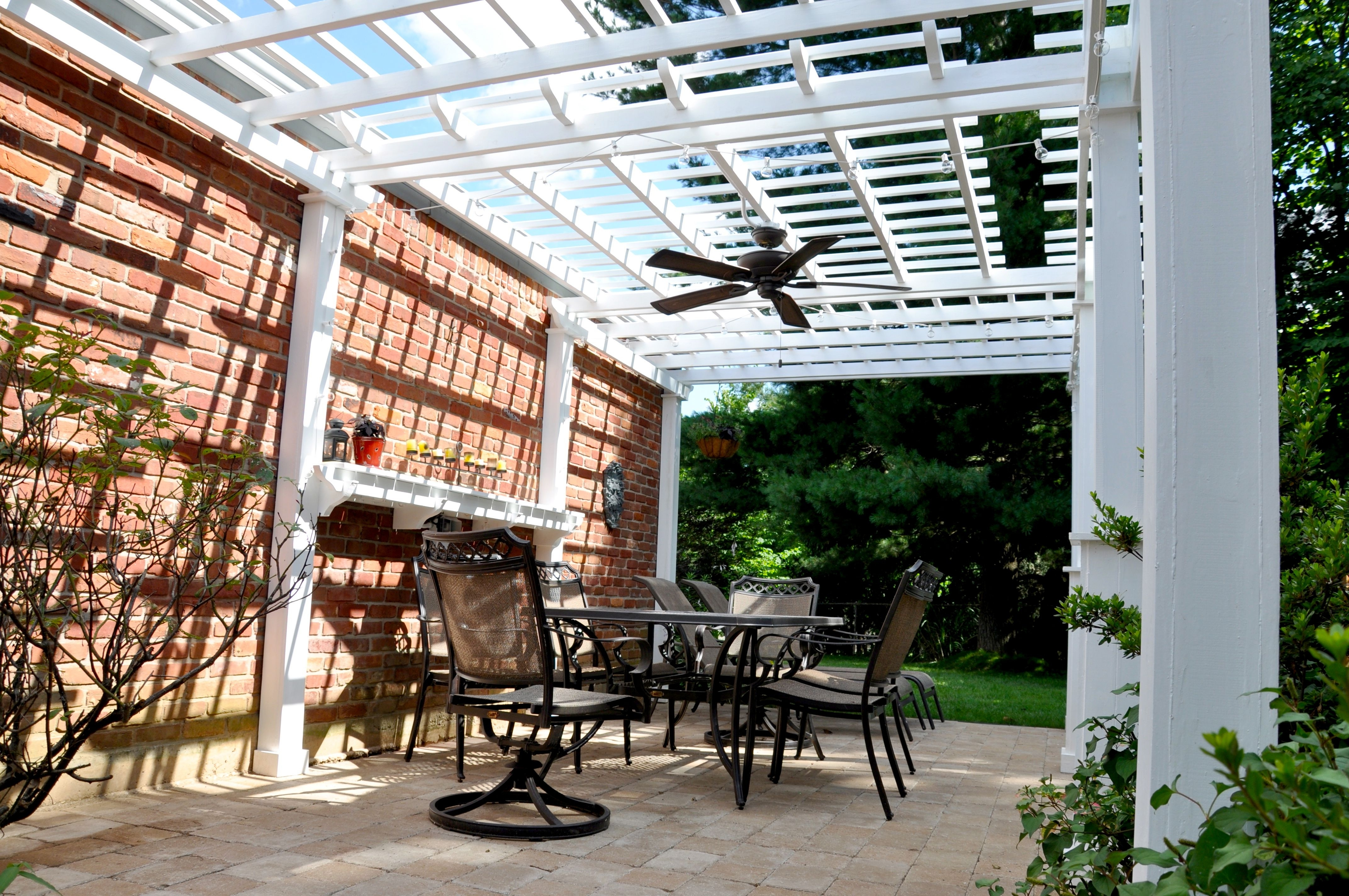 Living Spaces Pertaining To Best And Newest Outdoor Ceiling Fans For Pergola (Gallery 1 of 20)