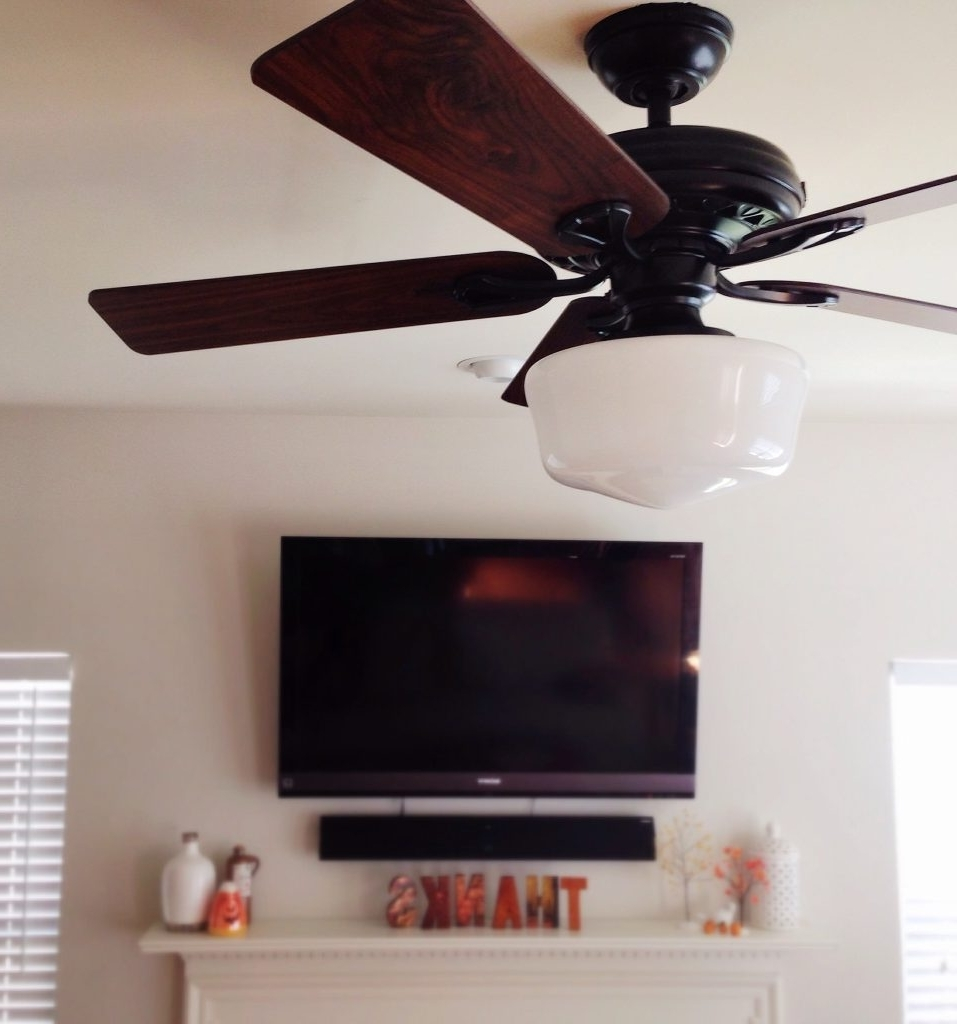 Love Hate Relationship A Ceiling Fan With Schoolhouse Light Simple With Best And Newest Outdoor Ceiling Fans With Schoolhouse Light (View 10 of 20)