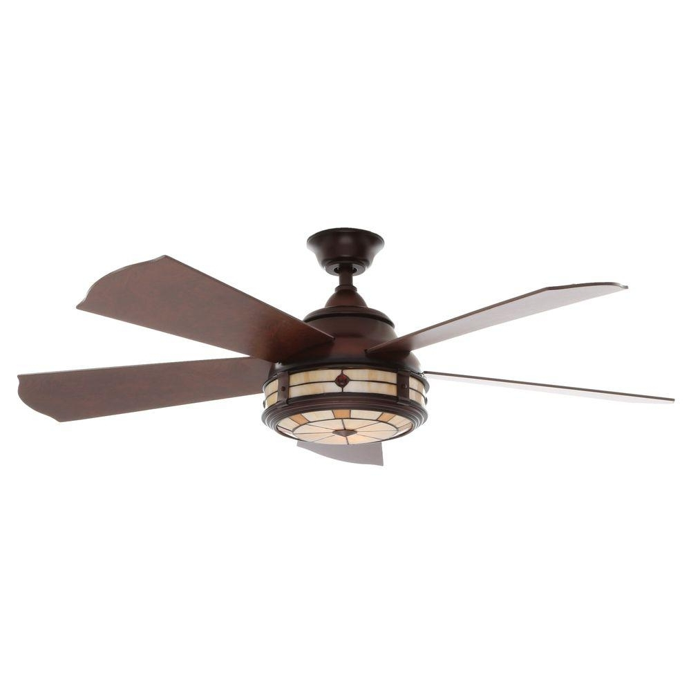 Low Profile Outdoor Ceiling Fans With Lights Intended For Latest Decorations: Low Profile Ceiling Fan Home Depot Collections (View 14 of 20)