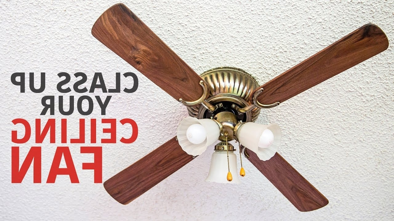 Making Ceiling Fan Blades From Black Walnut – Youtube Pertaining To Fashionable Outdoor Ceiling Fans With Plastic Blades (View 9 of 20)