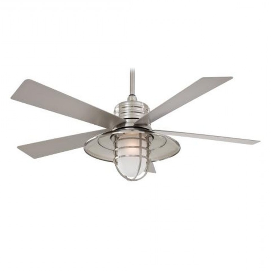 Minka Outdoor Ceiling Fans With Lights Inside Popular Minka Aire F582 Rainman 1 Light 5 Blade 54 Inch Outdoor Ceiling Fan (View 4 of 20)