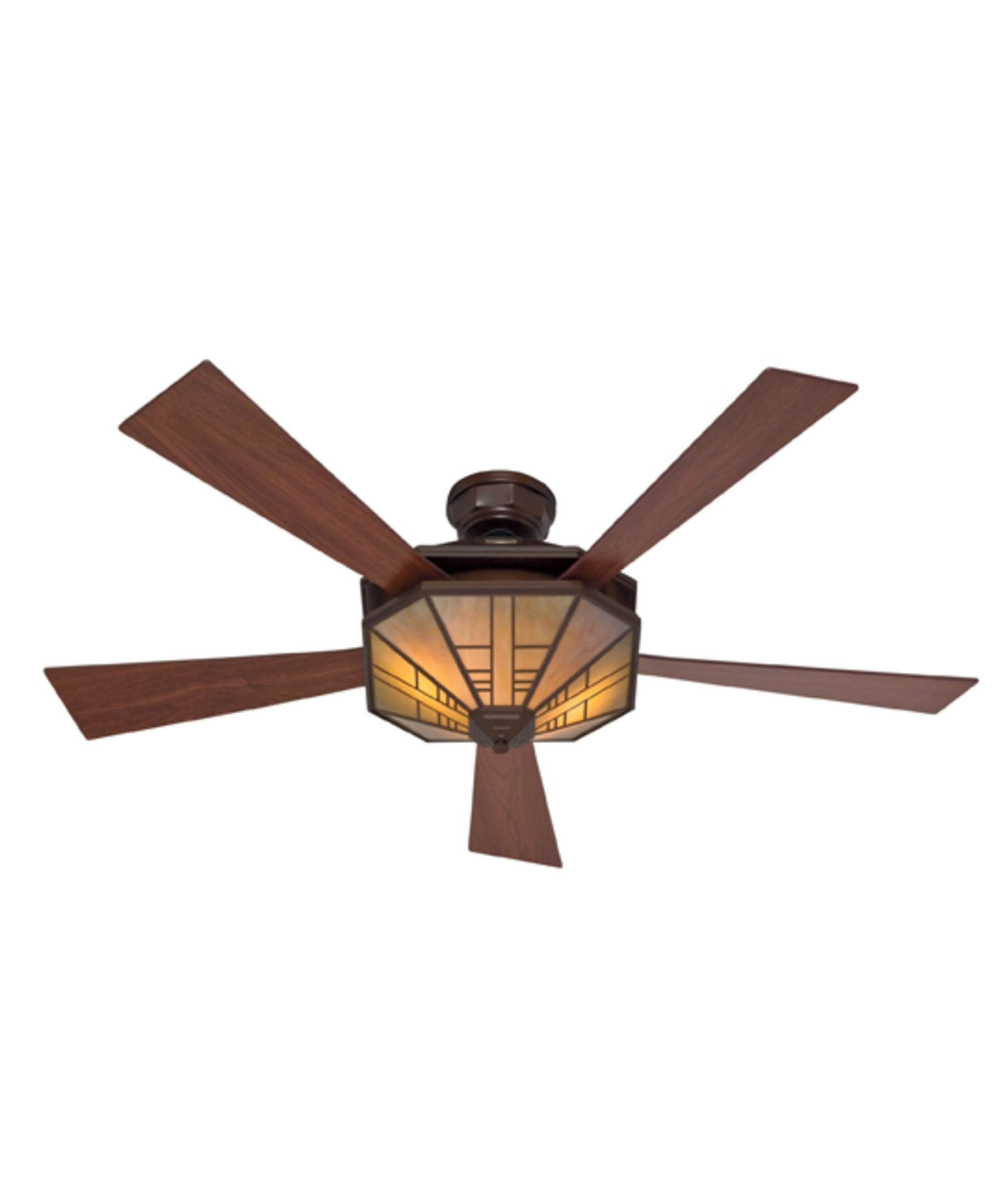 Mission Style Outdoor Ceiling Fans With Lights Intended For Most Up To Date Hunter Fan 21978 1912 Mission 54 Inch 5 Blade Ceiling Fan (Gallery 6 of 20)