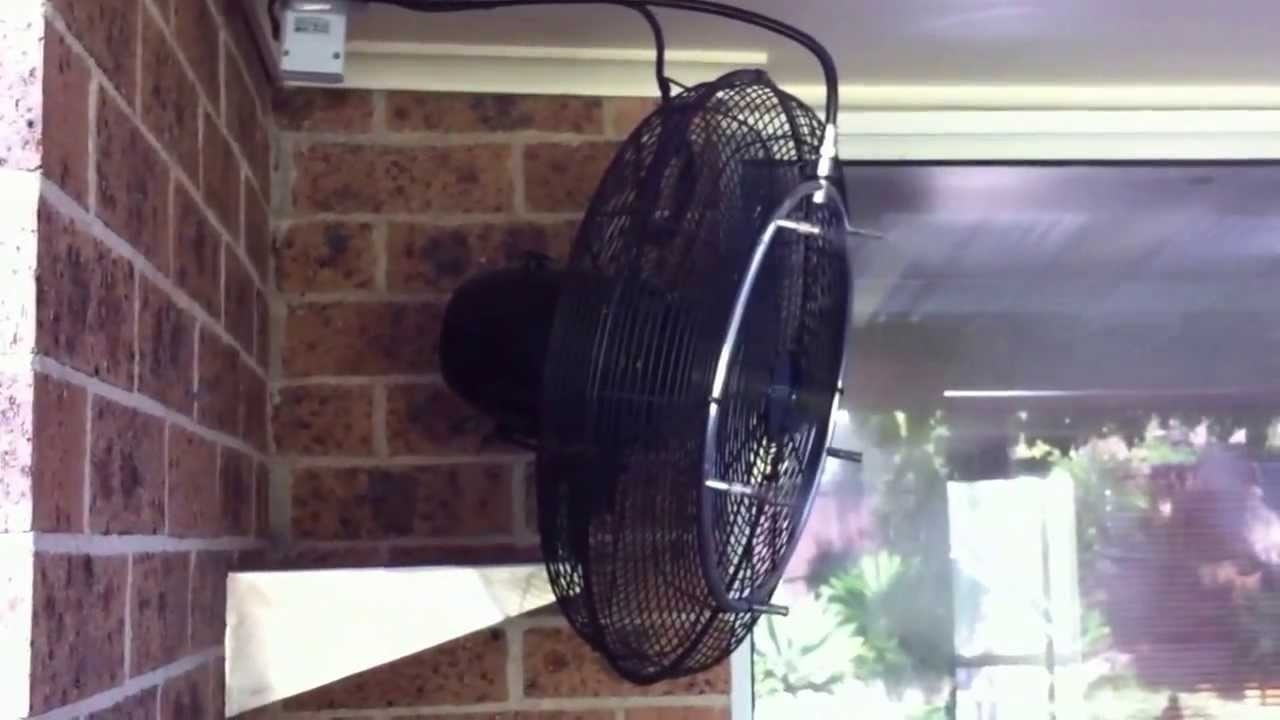 Misting Fan Cooling Patio Mistech High Pressure Misting System – Youtube Inside Widely Used Outdoor Ceiling Fans With Misters (View 6 of 20)