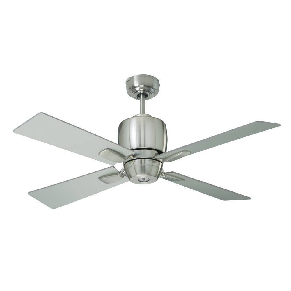 Modern Outdoor Ceiling Fans Throughout Newest Shop Emerson Veloce 46 Inch Brushed Steel Modern Indoor/outdoor (View 14 of 20)