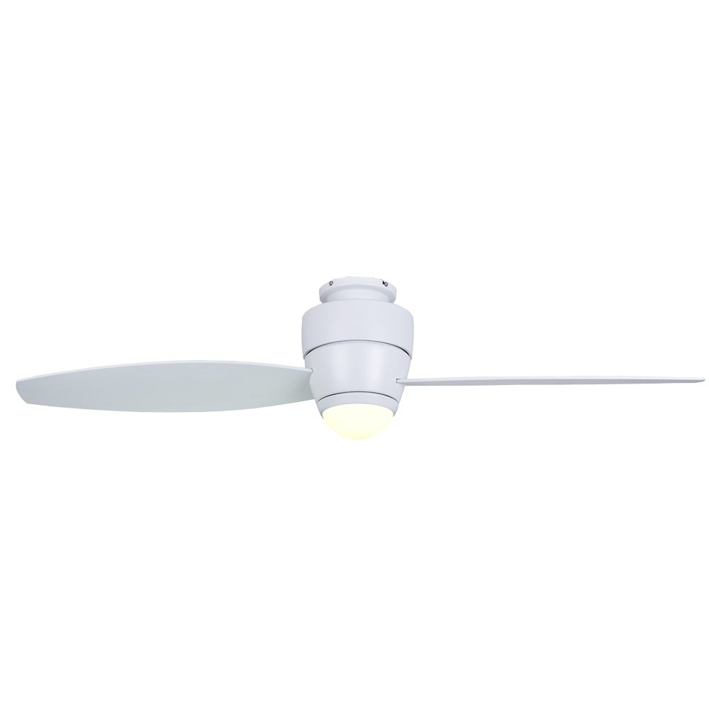 "Most Current Astra Ceiling Fan Matt White With Light 54"" – Eid Fans (Gallery 14 of 20)"