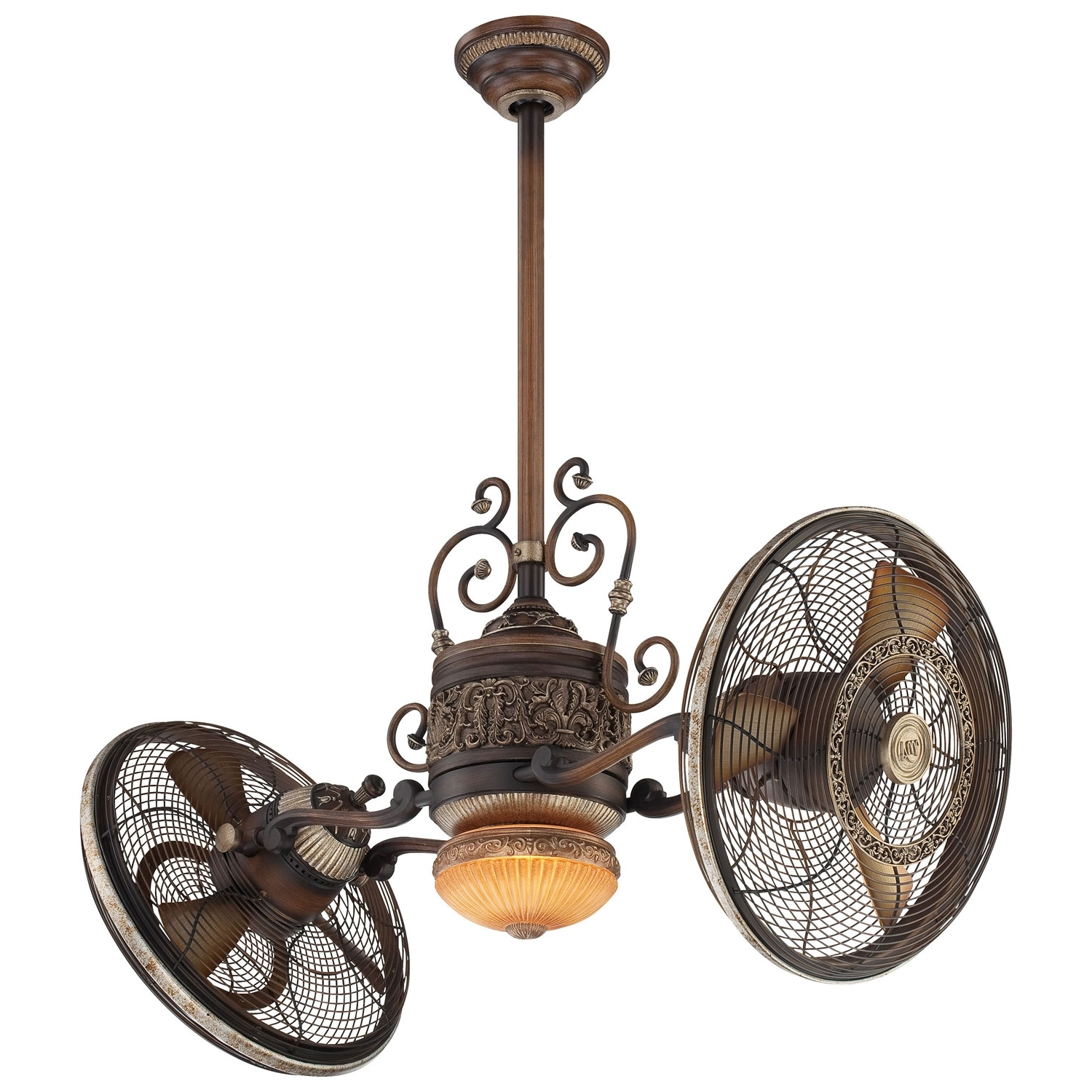 Most Current Minka Aire 42 Inch Traditional Gyro Belcaro Walnut Ceiling Fan F502 In Dual Outdoor Ceiling Fans With Lights (View 14 of 20)