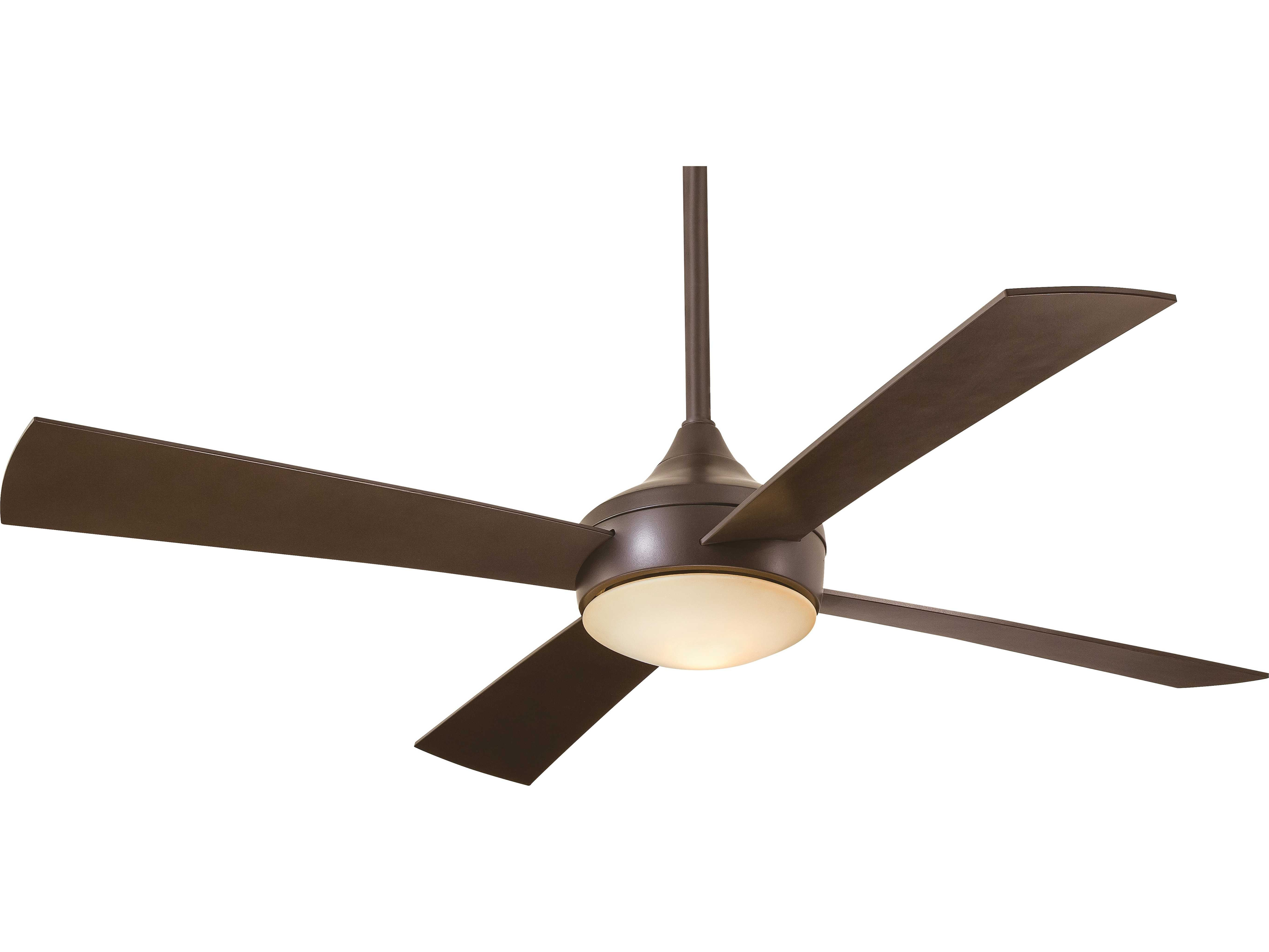 Most Current Minka Aire Aluma Wet Oil Rubbed Bronze 52'' Wide Outdoor Ceiling Fan Inside Oil Rubbed Bronze Outdoor Ceiling Fans (Gallery 20 of 20)
