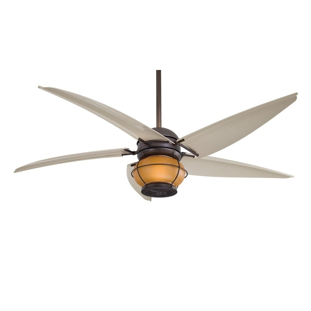 Most Current Minka Outdoor Ceiling Fans With Lights Intended For Ceiling Fans With Lights : Minka Aire Magellan F579 L Bnw, Outdoor (View 19 of 20)