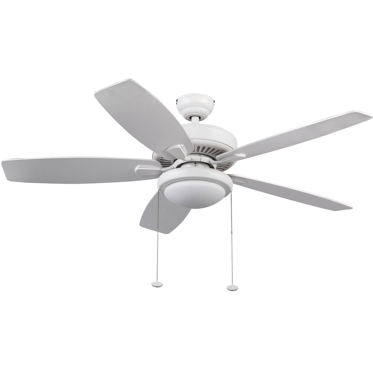 "Most Current Outdoor Ceiling Fan With Brake With 42"" Mainstays Hugger Indoor Ceiling Fan With Light, White – Walmart (View 14 of 20)"