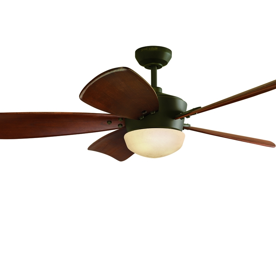 Most Current Shop Ceiling Fans At Lowes Throughout Brown Outdoor Ceiling Fan With Light (View 16 of 20)
